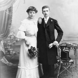 Adolf-Frank-(1885)-Hochzeitsfoto-mit-1.-Frau-Maria-Goerg-1917