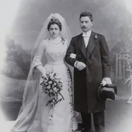 Andreas-Frank-(1878)---(Bruder-v.-Josef-Frank-II.)-Hochzeitsfoto-mit-Paula-Vollkruber---22.02.1903