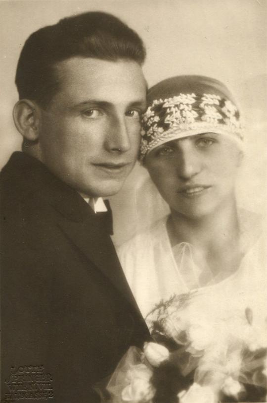Dismas Pawlikowsky & Grete geb. Frank (*1908), Tochter v. Josef II. Frank (*1875), aufg. 24.06.1929