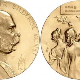 Goldene Staatsmedialle für Bildende Kunst verliehen HansFrank 1910